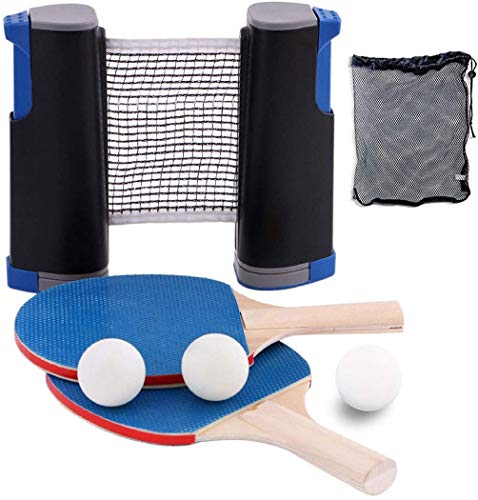Great Price! YZU Retractable Tabletop Table Tennis Set, 7-Piece Ping Pong Set, Ideal for Professiona...
