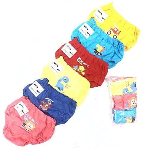 SNS Baby Boys and Girls Cotton Trunks Panty Innerwear Drawer Combo Pack of 12 Pc