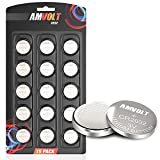 15 Pack AmVolt CR2032 Battery...
