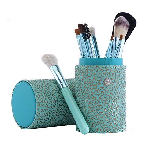 Llxxx Pinceau de Maquillage-Pinceaux cosmétiques Portables pour Poudre Libre, Contour, Teinte, surligneur, Fard à paupières et Fond de Teint, 12 pièces, D
