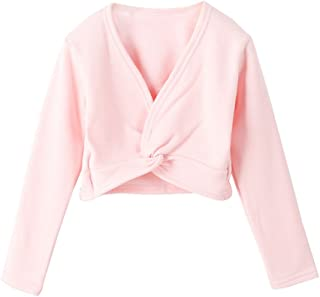 Lisianthus Girls' Classic Thick Ballet Long Sleeve Wrap Top