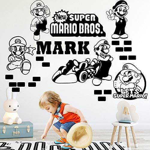 sakkdaull Decoratoin D Super Mario Modern Game ation Children House for KidsArt Vinyl Women Bedroom Decor Wall Sticker 104x146cm