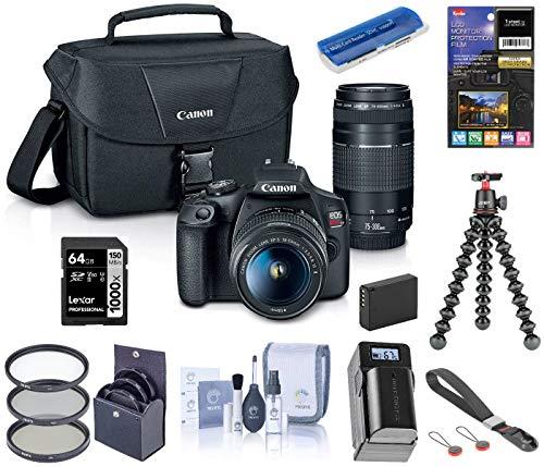 Buy Canon EOS Rebel T7 DSLR Camera with EF-S 18-55mm f/3.5-5.6 + EF 75-300mm f/4-5.6 Lens, Bundle Jo...