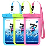 MoKo Waterproof Phone Pouch [3 Pack], Underwater Phone Case Dry Bag with Lanyard