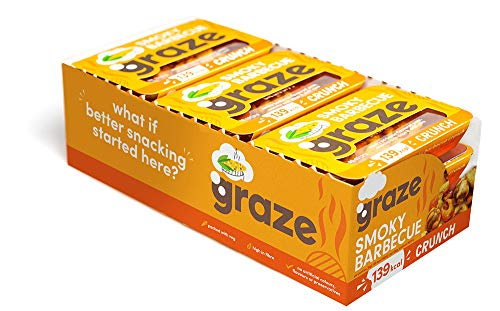 Graze Smoky Barbecue Crunch - Vegan Savoury Snack Punnet - 31g (Pack of 9)