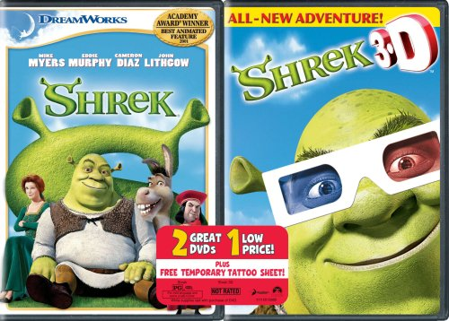 Shrek & Shrek 3d [DVD] [Region 1] [US Import] [NTSC]