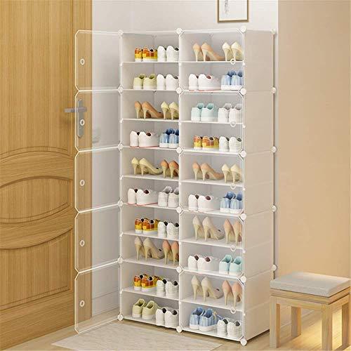 Decoración de muebles Caja de zapatos plegable Caja de zapatos Simple zapato estante Inicio Capacidad de gran capacidad Puerta a prueba de polvo Ahorre espacio Plástico Económico Multi-capa Almacenami