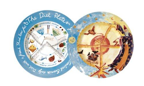 The Diet Plate Male and Magic Diät-Teller, aus Steingut, klinisch nachgewiesen zur Kontrolle von Gewichtsverlust und Portionskontrolle