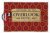 El Resplandor Pasar por Alto Hotel Producto Oficial de Felpudo, Fibra de Coco, Rojo, 60x 40x 1,5cm
