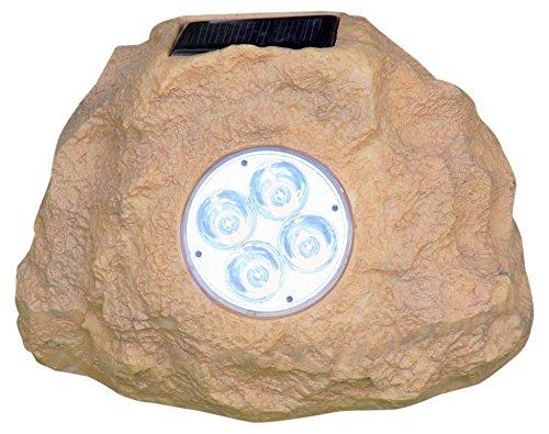 Homebrite Solar 33837/3 Power Spot Lights, Jumbo, Sandstone Rock