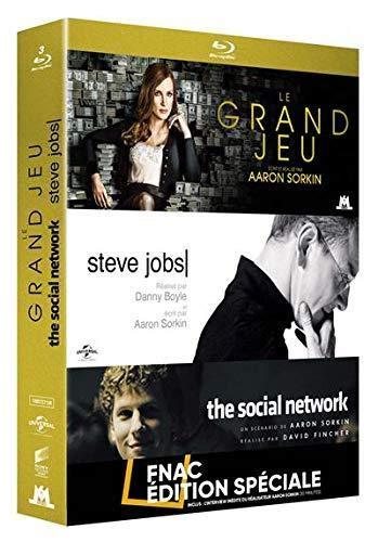 Coffret Aaron Sorkin 3 Films : Le Grand Jeu Steve Jobs The Social Network [Blu-Ray]