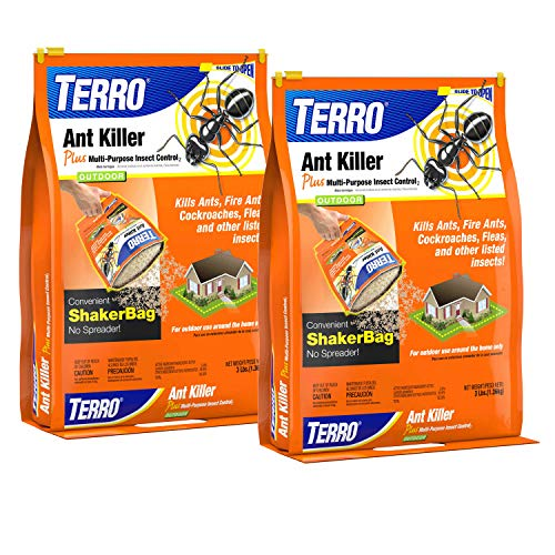 Terro T901SR, Listed Insects 3 lb Ant Killer Plus – Also Kills Cockroaches, Fleas-2 Pack, Brown