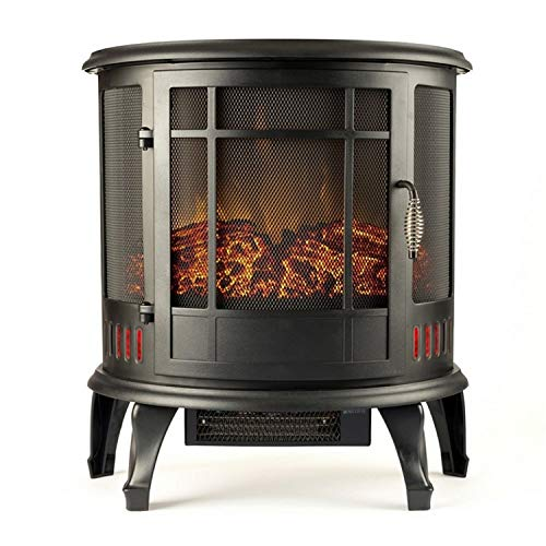Gibson Living 22-inch Heater Vent Free Curved Electric Fireplace Stove...