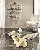 Stones Table Basse en Blanc et Gris Pierre Papillon