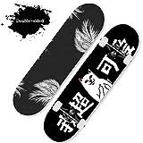 HUADUO Skateboard Complete Beginners Skateboard Pro 31'x8 Maple Double Kick Penny Skate Board para Adultos, niños, Adolescentes, niños, niñas-Color A