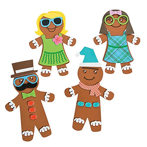 Silly Gingerbread Foam Magnet Craft Kit - Crafts for Kids and Fun Home Activities