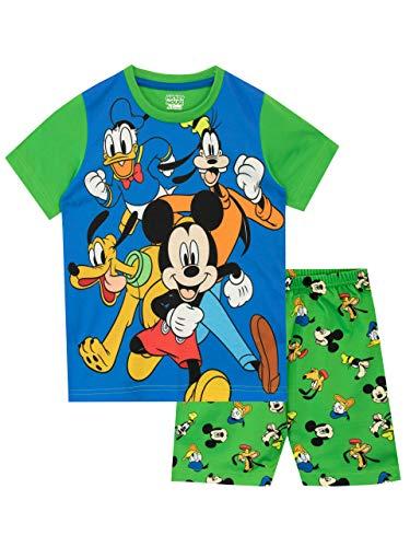 Disney Pijamas de Manga Corta para niños Mickey Mouse Verde 6-7 Años