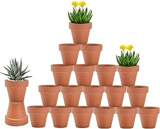 گلدان های 3 اینچی Terra Cotta با زهکشی - گلدان های سفالی گل 20 تایی ، گلدان های شیرین کودک مناسب برای گیاهان ، صنایع دستی ، علاقه عروسی