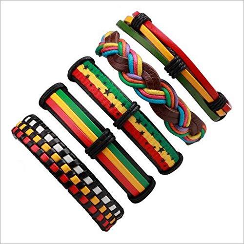 JJDSL Armband, Handmade Ethnic Tribal Wrap Charmante Männlichen Geflochtenes Leder Armreifen