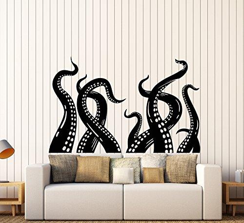 ビニール壁デカールオクトパスTentacles Krakenバスルーム装飾ステッカー( ig4144) M 22.5 in X 35 in