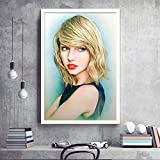 Arter Taylor Swift Hand bemalt Poster, Pop-Wand-Kunst Super