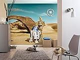 Komar - Fototapete STAR WARS LOST DROIDS - 368 x 254 cm - Tapete, Wand, Dekoration, Wandbelag, Wandbild, Wanddeko, Sand, Wüste, C-3PO, R2D2 - 8-484