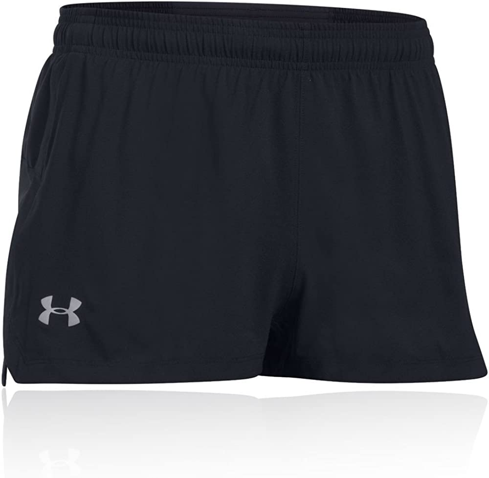 Under Armour Mens Launch Stretch Woven Split Running Short Red Sports Breathable