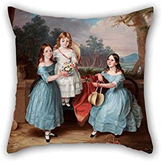 Oil Painting Martha Berkeley - Georgina, Emily and Augusta Rose Throw Cushion Covers Best for Sofa Dining Room Gril Friend Bar Kitchen Wife 18 X 18 Inches / 45 by 45 cm(2 Sides) for Christmas