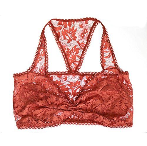 Auburn Lace Bralette. Soft Wireless Bra. Handmade Lingerie. Floral Top