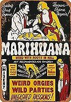 RCY-T ブリキサイン Vintage Poster Man Woman Cannabis Bar Pub Club Restaurant Men Cave Decoration Gift 8x12 Inches-6-8x12 inch