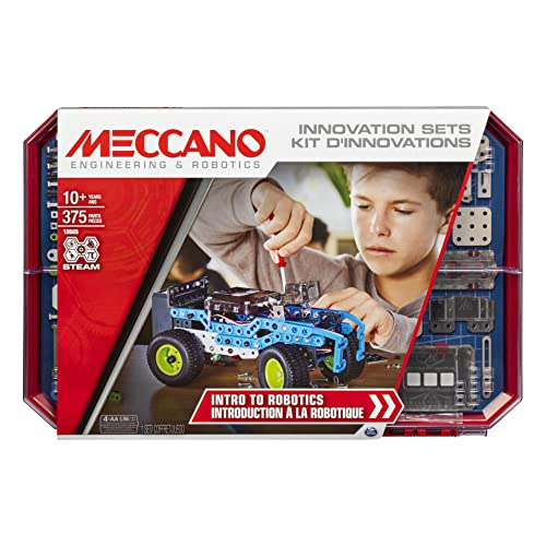 Meccano, Intro to Robotics Innovation Set, S.T.E.A.M. Building Kit with Sensors and Real Motor