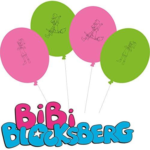 Bibi Blocksberg 8 Luftballons Kinderparty und Kindergeburtstag von DH-Konzept // Hexe Deko Ballons Streiche Party Set Marita Florian Moni