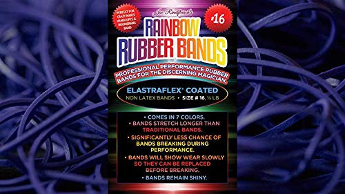 THE LORD OF THE MAGIC Joe Rindfleisch's Size 16 Rainbow Rubber Bands (Dan Harlan - Deep Purple ) by Joe Rindfleisch - Trick , Truco de Magia