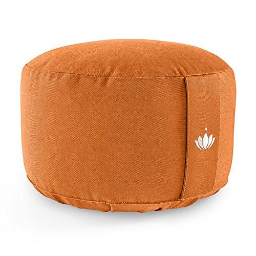 Lotuscrafts Yogakussen Meditatiekussen Extra Hoog - zithoogte 20cm - wasbare katoenen hoes - yoga zitkussen met spelt vulling - GOTS gecertificeerd
