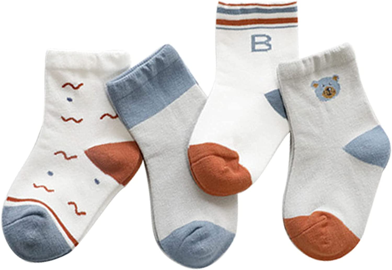 Baby Socks Kids Non Slip Skid Socks Grips Sticky Slippery Cotton Crew Socks For 1-5 Years Old Children Youth Boy Girl 2 Pairs