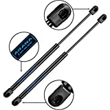 2Pcs Set 15' Lift Supports Gas Prop Struts Force 24 Lb/107N Per Shock Spring Dampers for Truck Topper Snugtop Cover Camper Shell Window Tractor Hood Tool Box Cabinet Lid DIY House Door