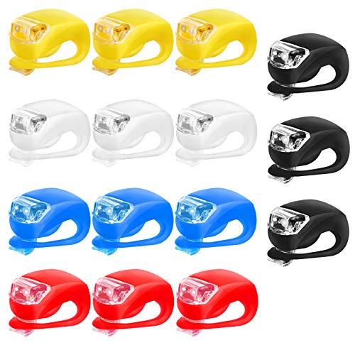 15 Pcs LED Luz Bicicleta Sets Luces Bicicleta LED Silicona I