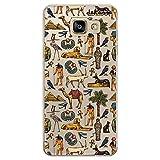 dakanna Funda Compatible con [Samsung A5 2016] de Silicona Flexible, Dibujo Diseño [Pattern simbolos del Antiguo Egipto], Color [Fondo Transparente] Carcasa Case Cover de Gel TPU para Smartphone