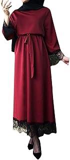 Chanyuhui Womens Dresses Women`s Abaya Dubai Jilbab Moroccan Plus Size Kaftan Maxi Dress