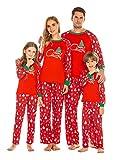 Ekouaer Matching Family Pajamas Christmas PJs Sets Holiday PJs Festival Long Sleeve Soft Sleepwear Set