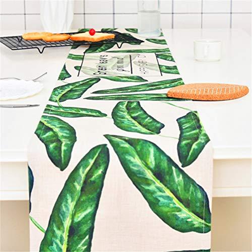 YYQIANG Moderna simple jardín Bandera de algodón ropa de mesa, Mesa de TV Gabinete Arroz Tabla gruesa cubierta de polvo de toallas de tela, Impresión de la bandera de picnic cubierta digital decoració