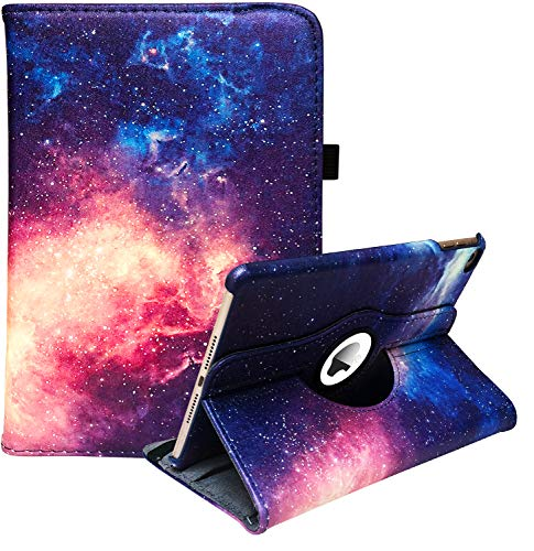 LayYun iPad Mini 1/2/3 Case - 360 Degree Rotating Stand Case Cover with Auto Sleep/Wake Feature for iPad Mini 1/iPad Mini 2/iPad Mini 3 (Galaxy)