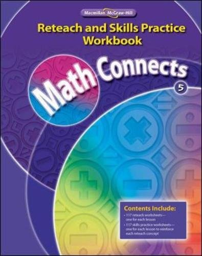 Math Concepts Grade 5, Reteach and Skills Practice Workbook (ELEMENTARY MATH CONNECTS)