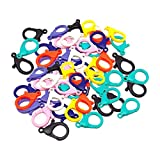 ONNPNN 100 Pieces Lobster Claw Clasps, Hard Plastic Clips, Cute Lanyard Snap Hook, Durable Jewelry Findings Buckles, DIY Fastener for Necklace Bracelet Beading Making Art Crafts Sewing, Random Color