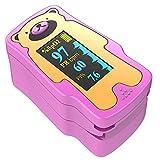 Finger Pulse oximeter fingertip for Children, Portable Blood Oxygen Saturation Monitor, (not for Newborn/Infant) (Pink)