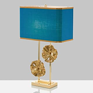 Lampe de table Lampe Nordic Creative Creative Cuivre Lotus Lotus Table Lampe Personnalité Personnalité Personnalité Chambr...