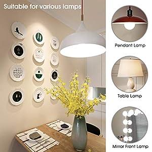 LOHAS 9 Watt LED Globe Bulb(with UL Listed), G25 LED Bulbs, 60Watt Vanity Light Bulbs Equivalent, LED Light Bulb Daylight 5000k, Medium Screw Base (E26), 810lm LED Lamp for Home Lighting-3 Pack