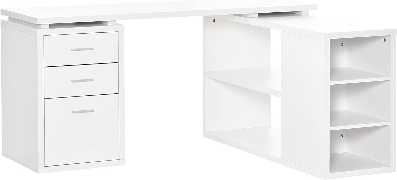 HOMCOM L-Shaped Computer Desk Home Study Work shopping Limited time sale Office Corner