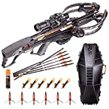 RAVIN Crossbows R29X 450 FPS Crossbow + Case with 6 Replacement Lighted Nocks, 6 Aluminum Broadheads and Serving Fluid (Hard Case)