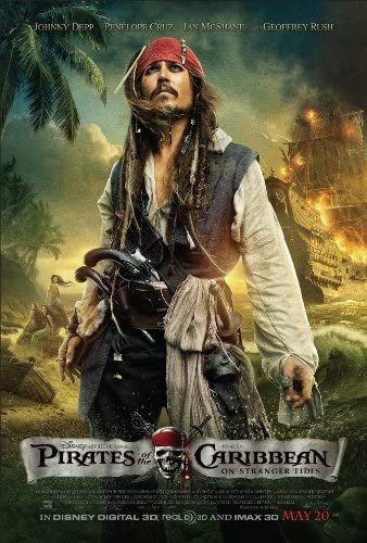 PIRATES OF THE CARIBBEAN ON STRANGER Seasonal Wrap Limited time for free shipping Introduction 2 MOVIE TIDES POSTER Sided